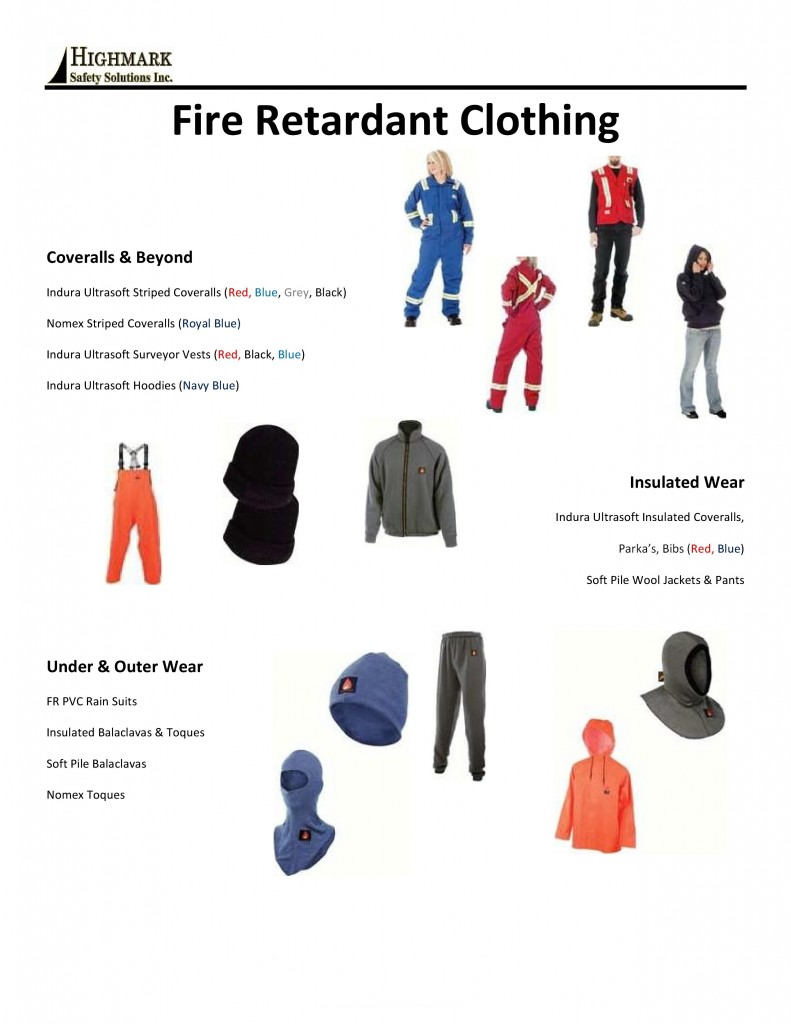 fire retardant clothing in Edmonton